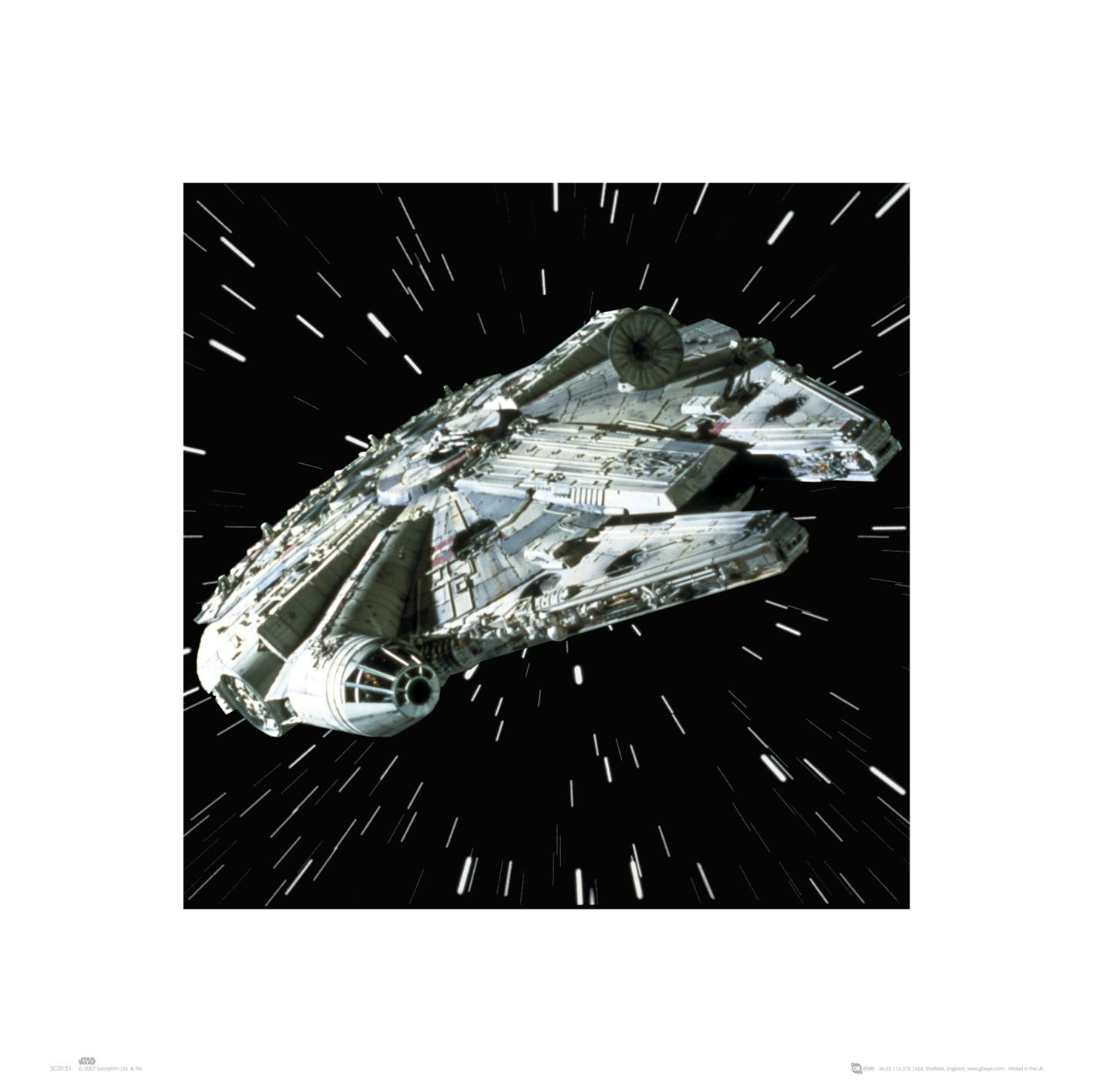 star wars millennium falcon kunstdruck 40x40. Black Bedroom Furniture Sets. Home Design Ideas