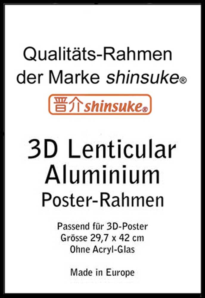 ALU Rahmen für A3-3D 30x42 cm - Profil: 25mm Aluminium schwarz ...