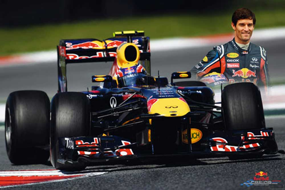 formel 1 red bull racing f1 webber poster 91 5x61. Black Bedroom Furniture Sets. Home Design Ideas