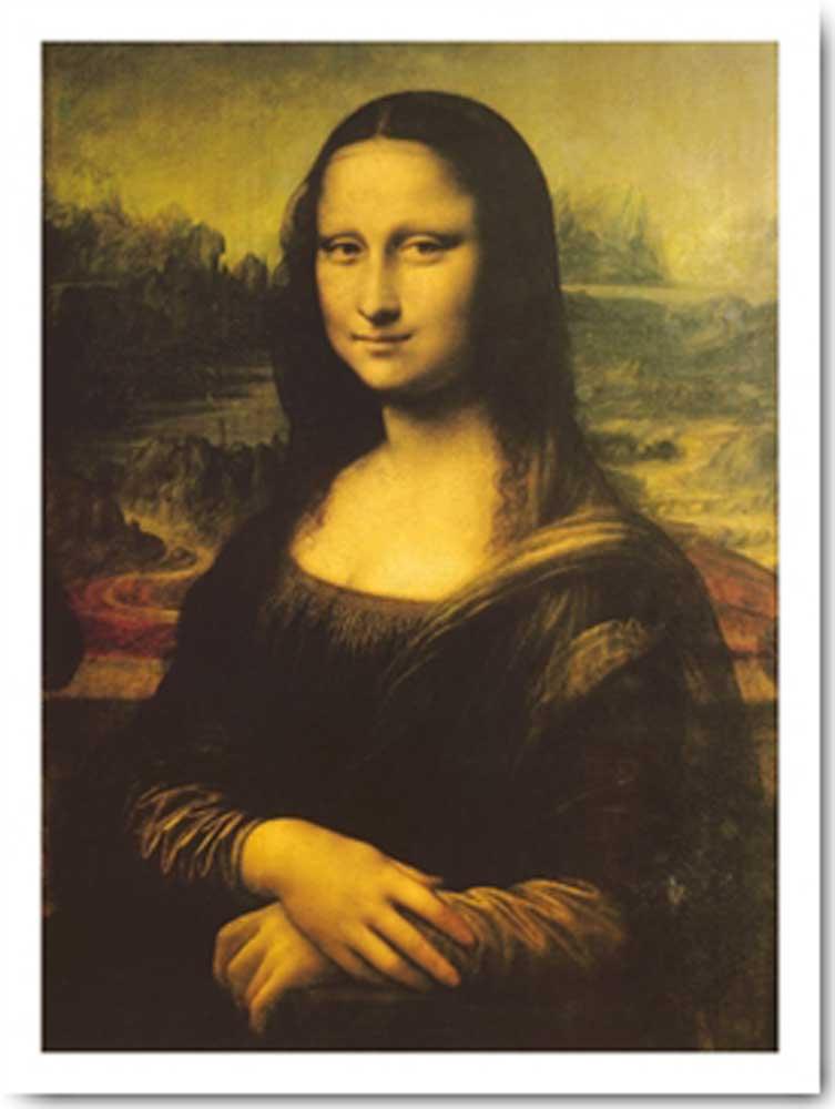 Leonardo da Vinci - Mona Lisa III - Kunstdruck - 60x80
