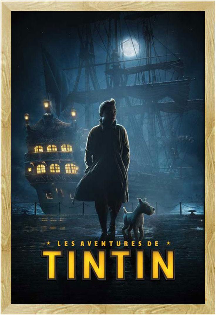 Größe 61x91,5 cm Poster Druck Tim und Struppi Dock Teaser Film