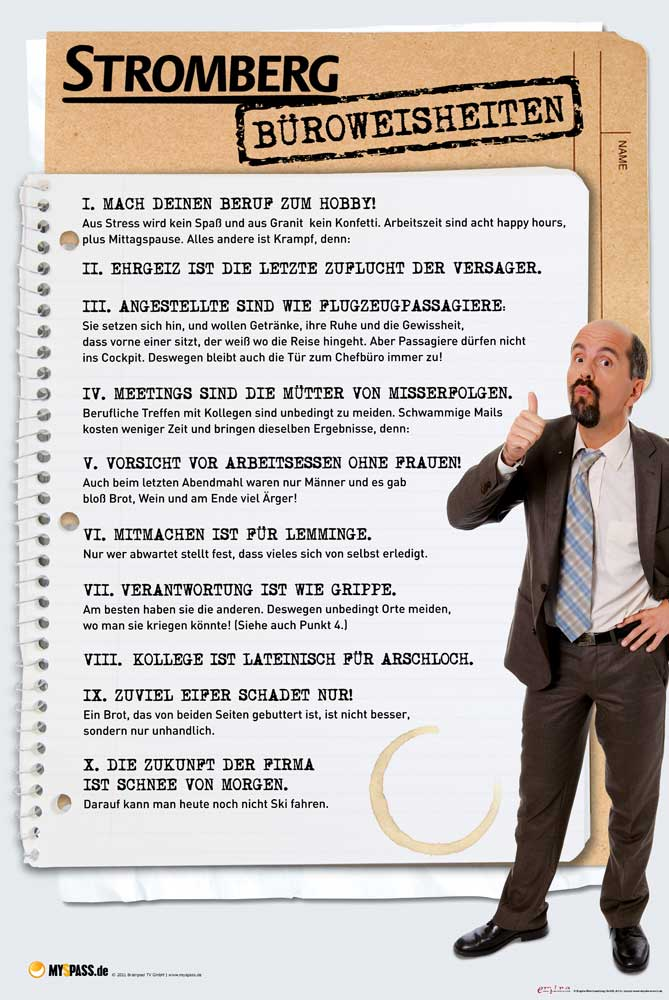 Büroregeln Lustig