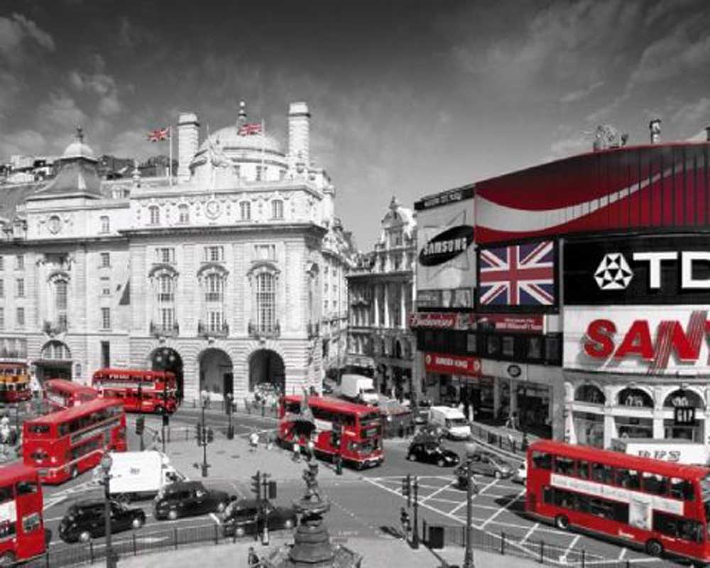 london piccadilly circus mini poster 50x40. Black Bedroom Furniture Sets. Home Design Ideas