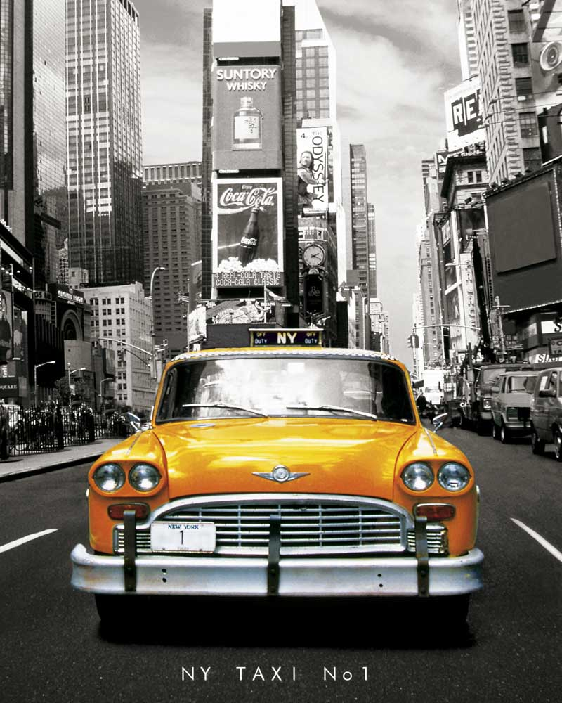 new york taxi no 1 mini poster 40x50. Black Bedroom Furniture Sets. Home Design Ideas