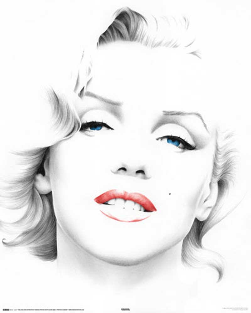 marilyn monroe sketch mini poster 40x50. Black Bedroom Furniture Sets. Home Design Ideas