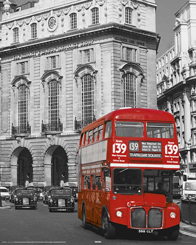 London - Roter Bus Linie 139 - Mini-Poster - 40x50