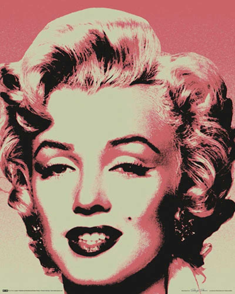 marilyn monroe pop art mini poster 40x50. Black Bedroom Furniture Sets. Home Design Ideas