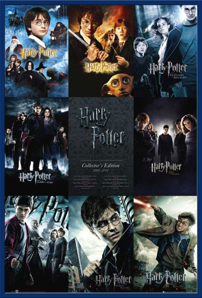 harry potter collection poster 61x91 5. Black Bedroom Furniture Sets. Home Design Ideas