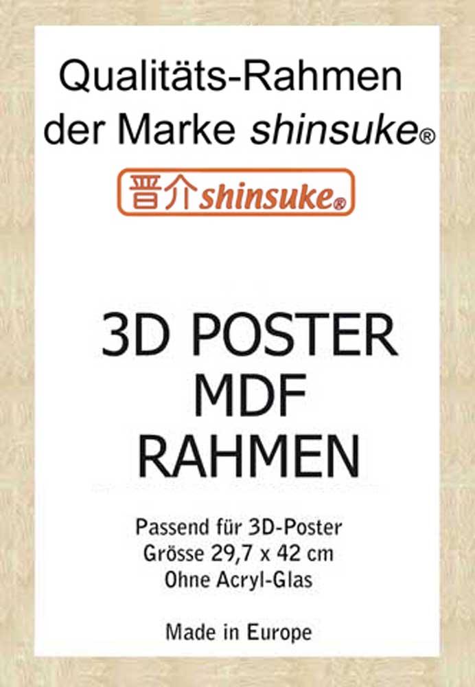 Rahmen A3 3D 30x42 cm - Profil: 30mm MDF Buche - Wechselrahmen - 34,7x47
