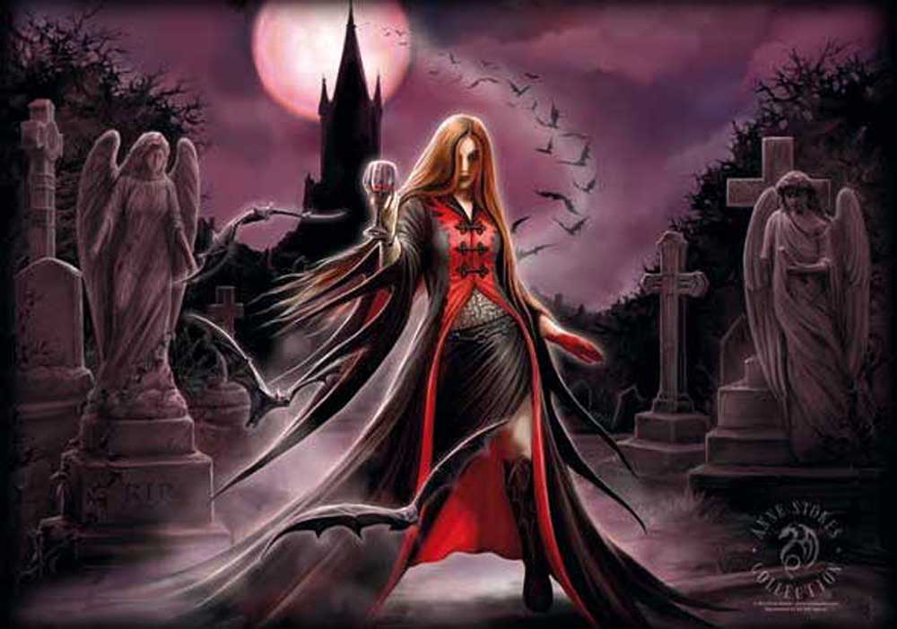 Anne Stokes  - Posterflagge - Blood Moon