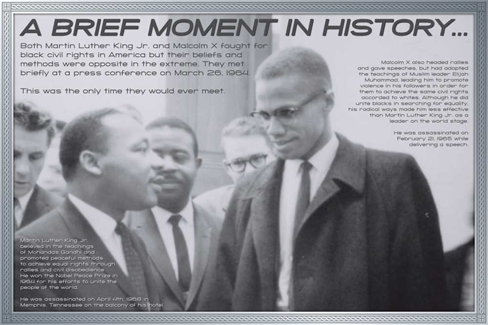 a description of the methods used by martin luther king and malcolm x