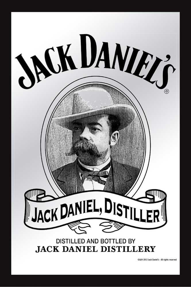 Jack Daniels - Jack - Bedruckter Spiegel - 20x30
