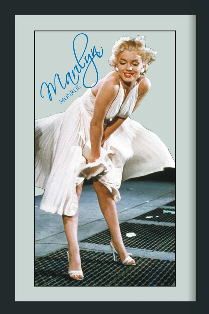 marilyn monroe wei es kleid bedruckter spiegel 20x30. Black Bedroom Furniture Sets. Home Design Ideas
