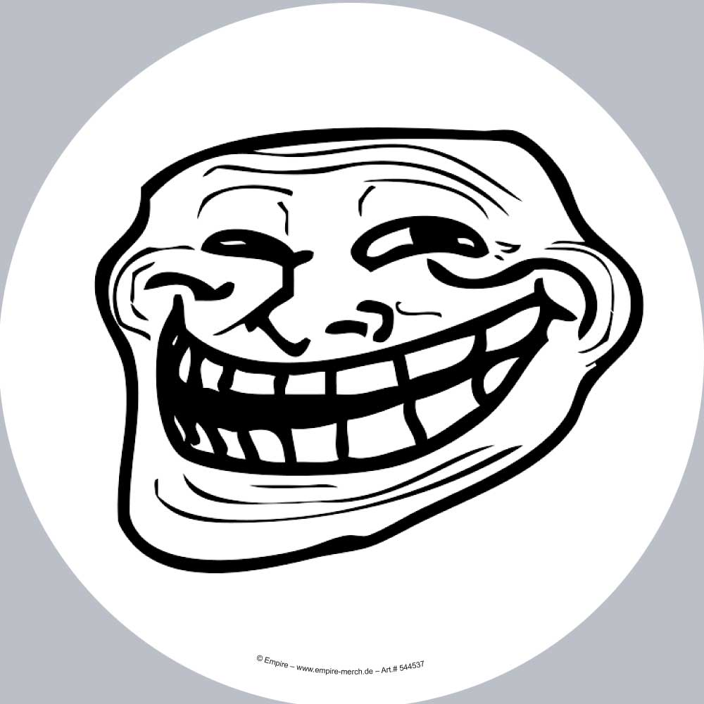 Fun - Sticker - Trollface
