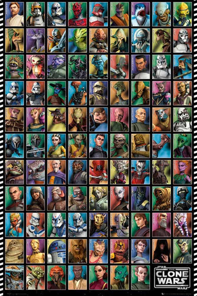 Star Wars - Clone Wars - Grid - Poster - 61x91,5