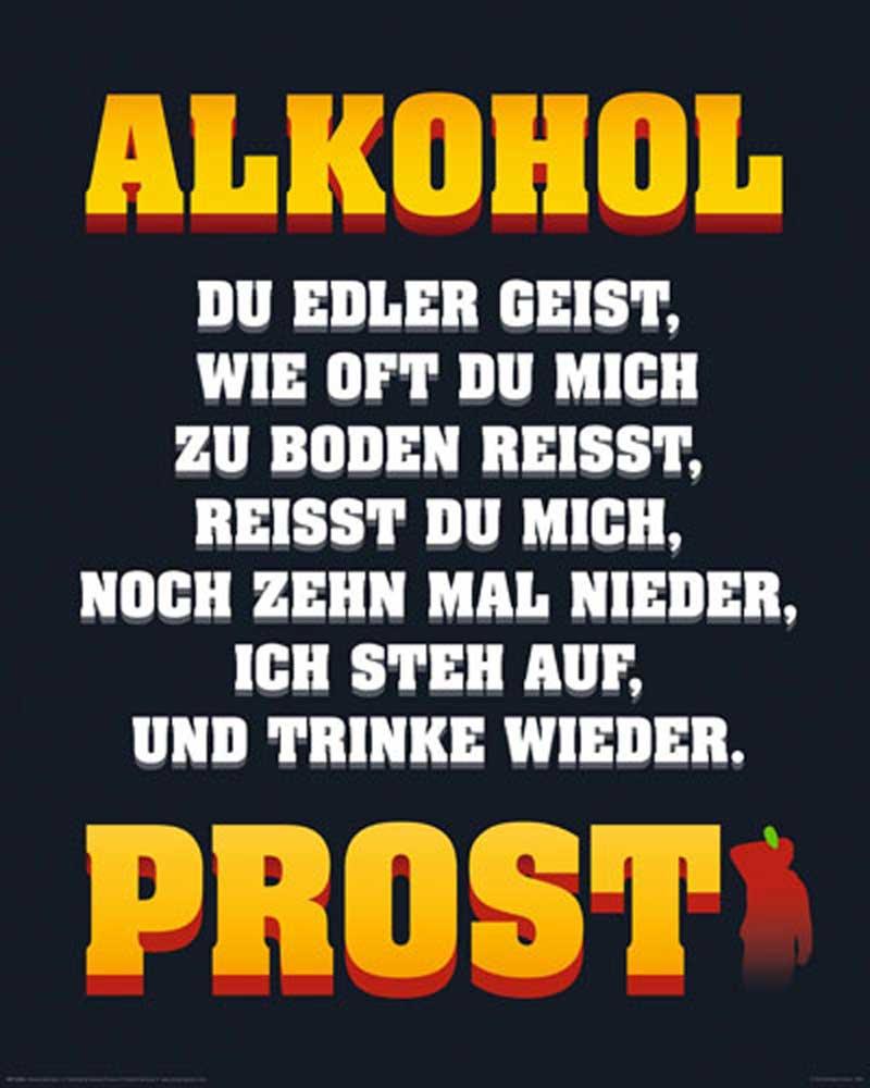 Alkohol - Edler Geist - Mini-Poster - 40x50