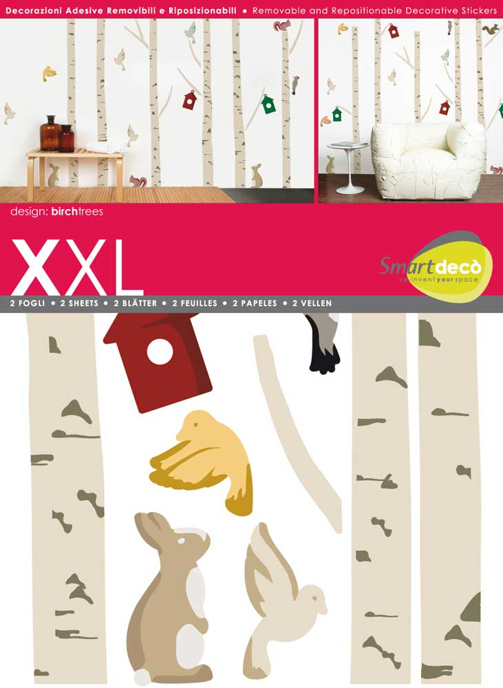 birken decosticker aufkleber wand sticker xxl. Black Bedroom Furniture Sets. Home Design Ideas