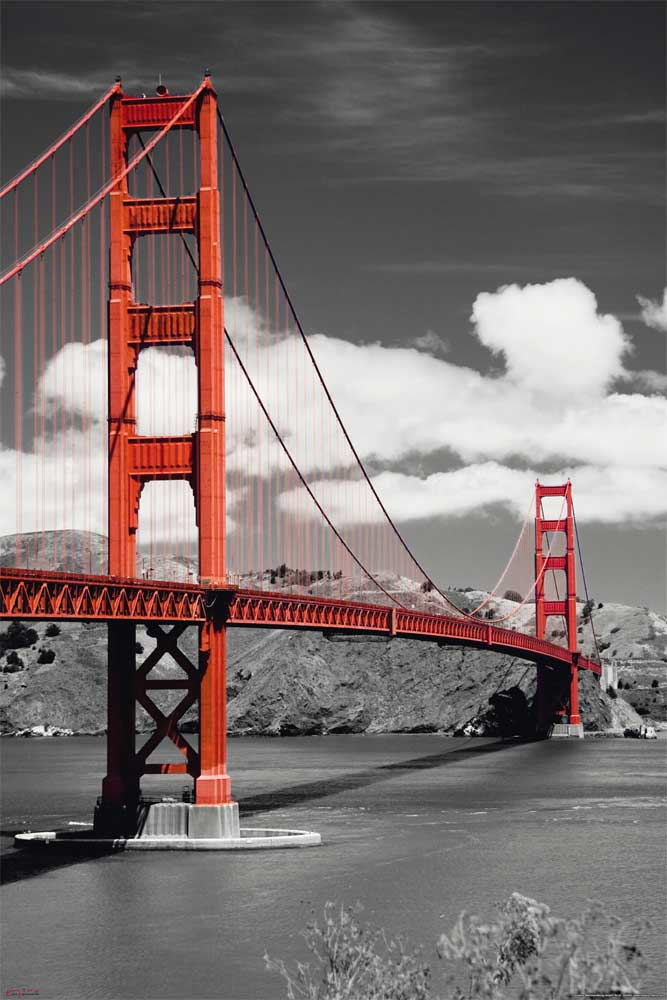 san fransisco golden gate bridge poster 61x91 5. Black Bedroom Furniture Sets. Home Design Ideas