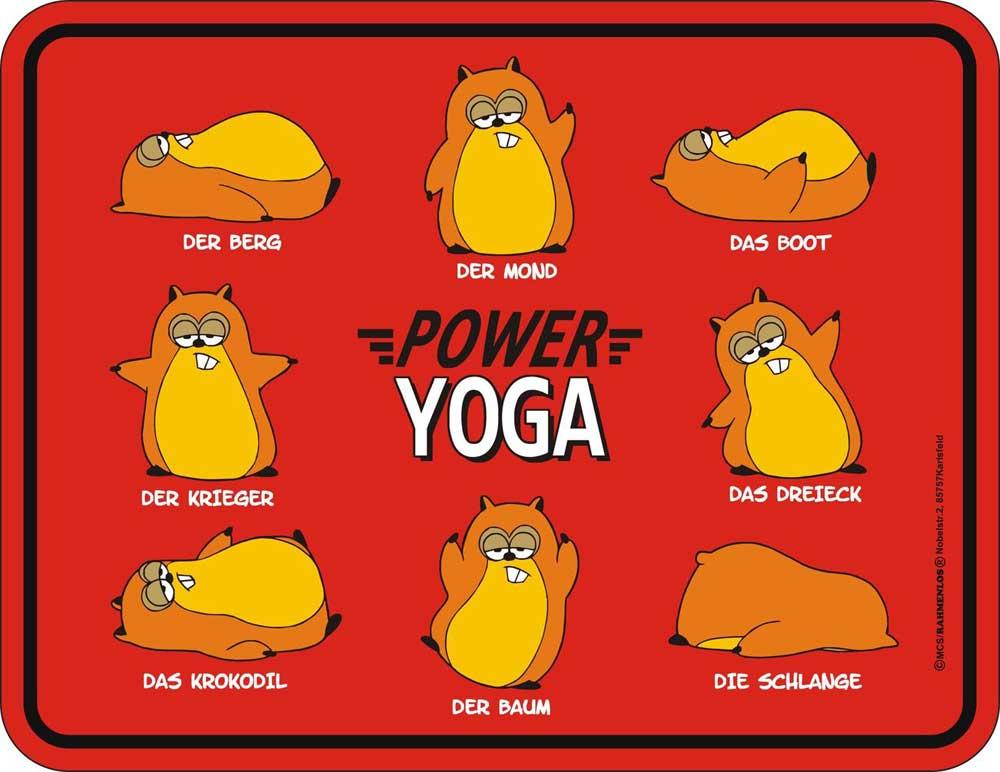 Power Yoga Blech Schild Spruch Fun Schilder 22x17