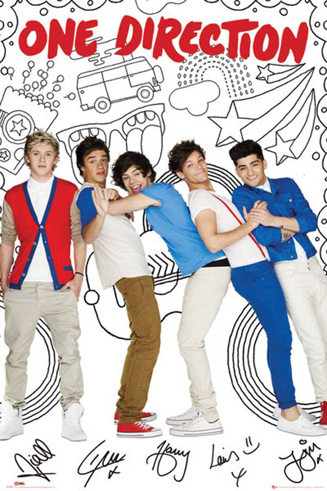 One Direction - Poster - Cartoon