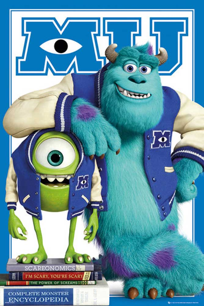 Monsters University - Poster - Mike Sulley college jacket