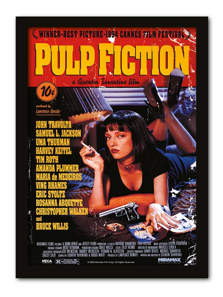 Pulp Fiction - Cover - Gerahmte Topseller - 32,5x45x1,2