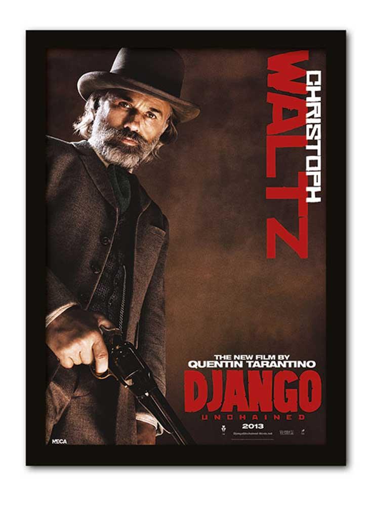Django Unchained - Christoph Waltz - Gerahmte Topseller - 32,5x45x1,2