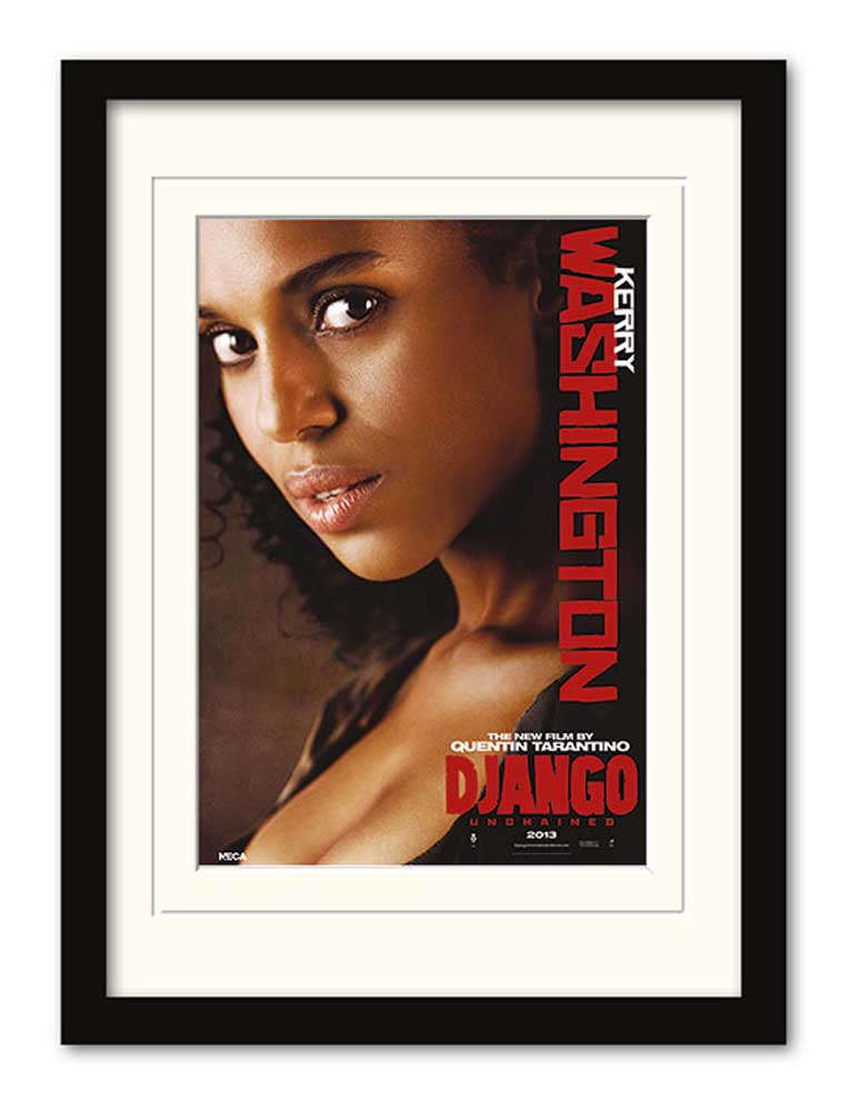 Django Unchained - Kerry Washington - Gerahmte Topseller - 32,5x45x1,2