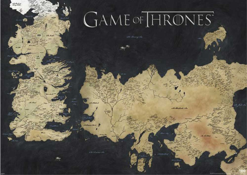 Game of Thrones - Giant Poster - Map of Westeros & Essos