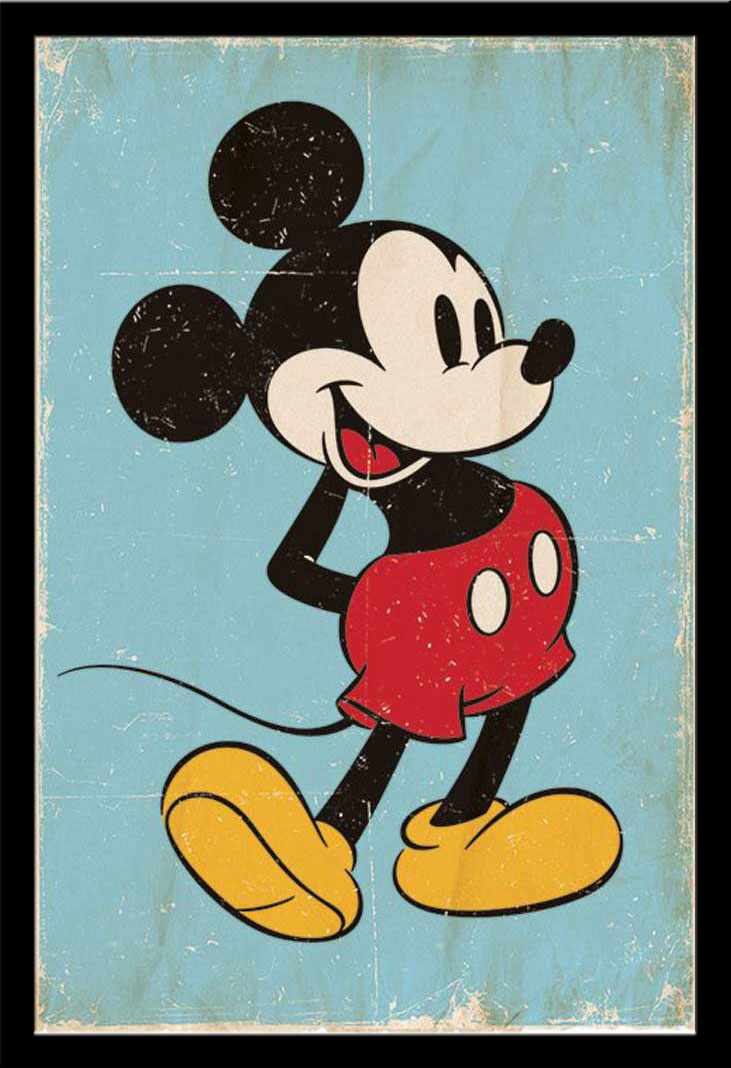 disney mickey mouse retro poster 61x91 5. Black Bedroom Furniture Sets. Home Design Ideas