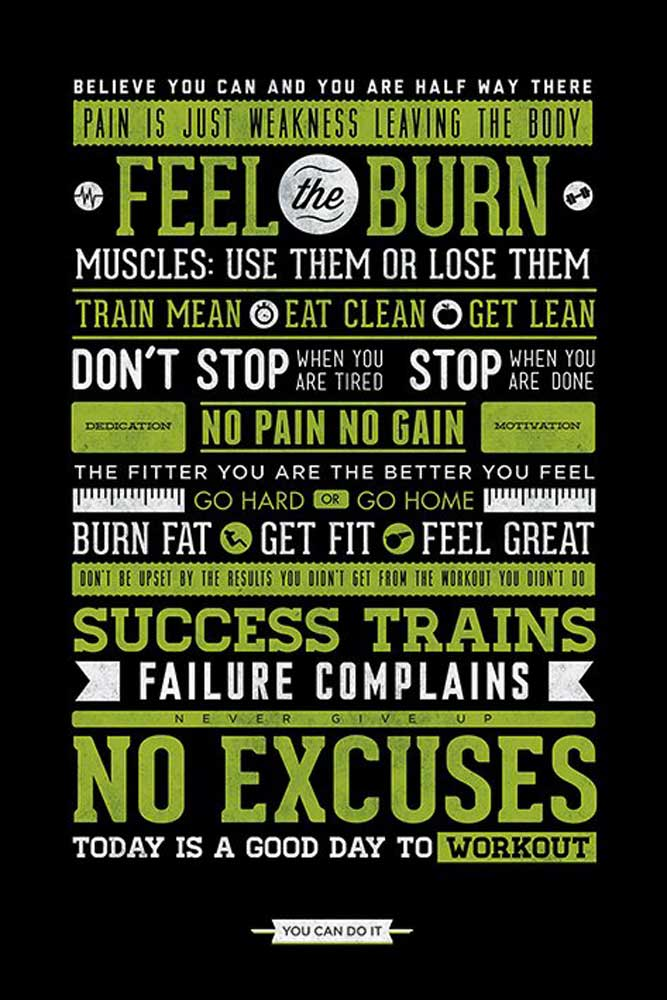 Motivational - Poster - Gym - No Excuses