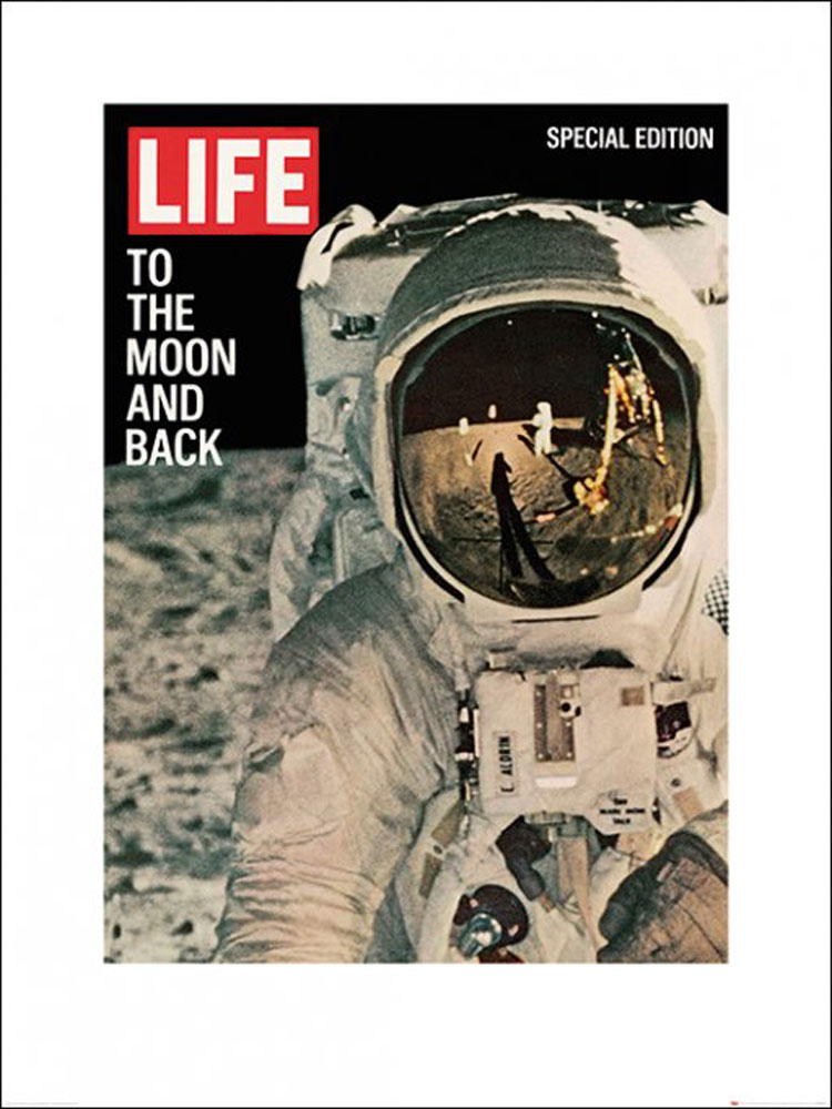 Time Life  - Kunstdruck / Art Poster - Life Cover - To the Moon and Back