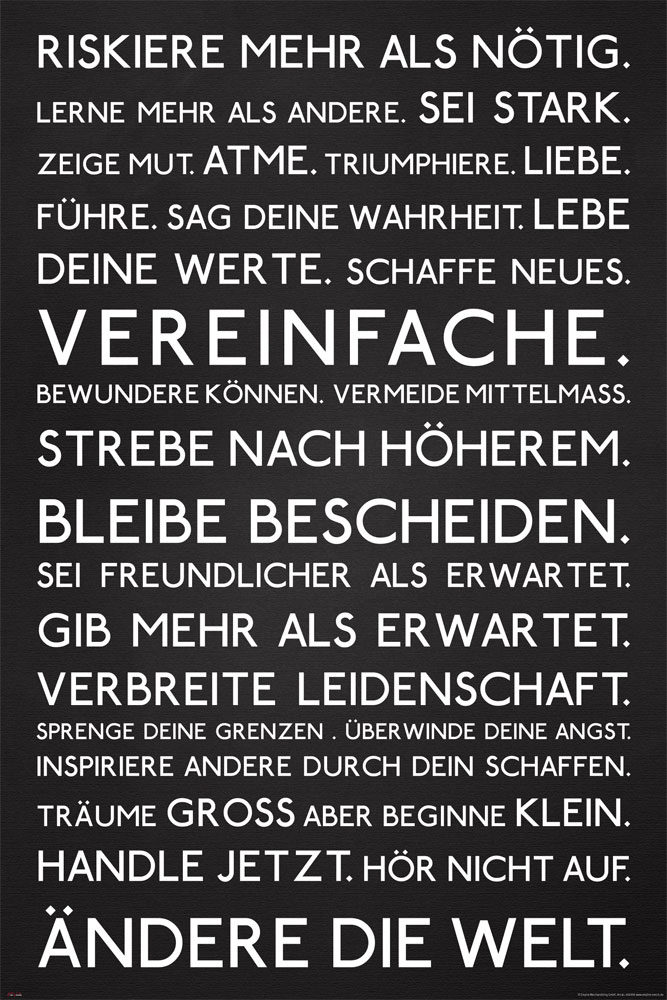 Motivational - Poster - Riskiere mehr