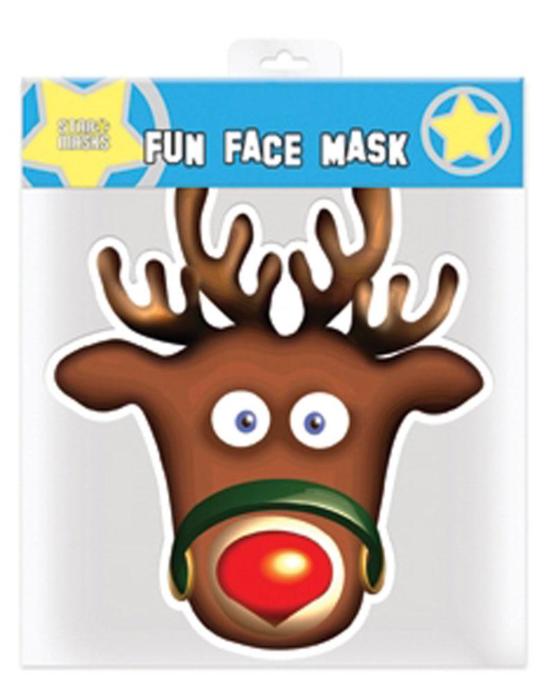 Weihnachten - Rudolph Maske - Papp-Masken - ca. 30x20
