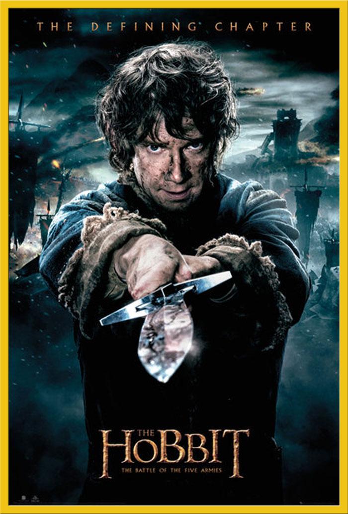 The Hobbit-BOTFA-Bilbo-Battle of 5 Armies poster-size 61x91,5 cm