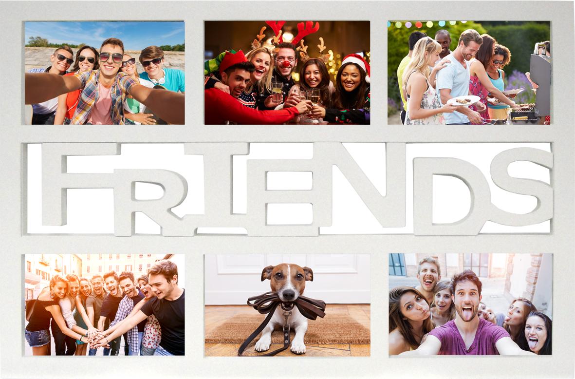 Collage Bilderrahmen Friends - Kunststoff weiss Multishot ...