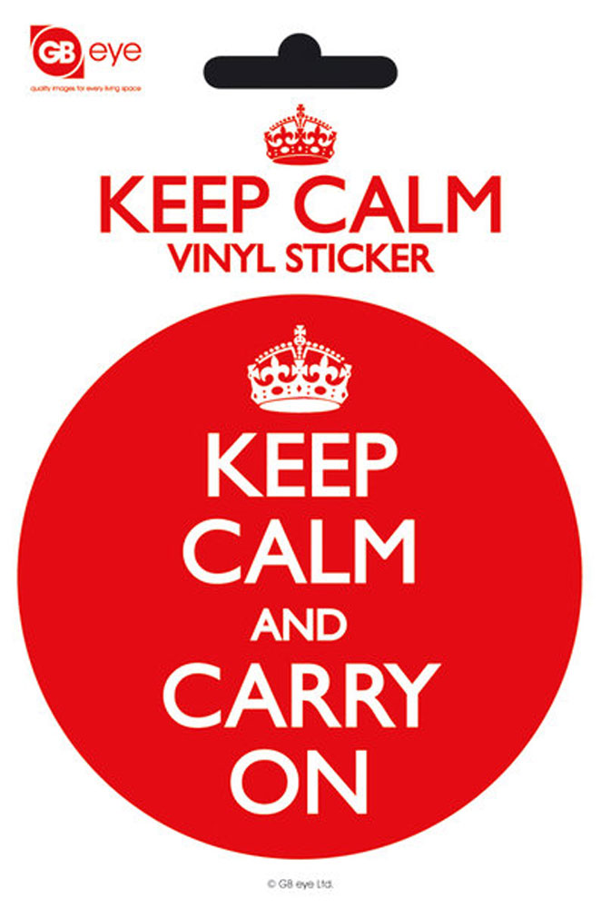 Keep Calm - Sticker - And Carry On
