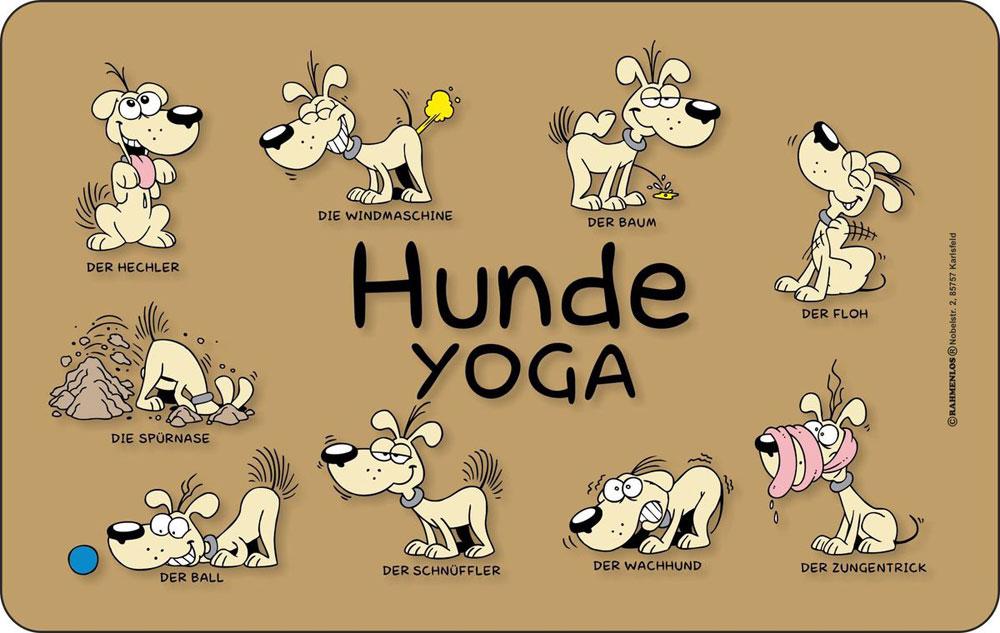 hunde sprüche - yoga - frühstücksbrettchen - 14,2x23,3