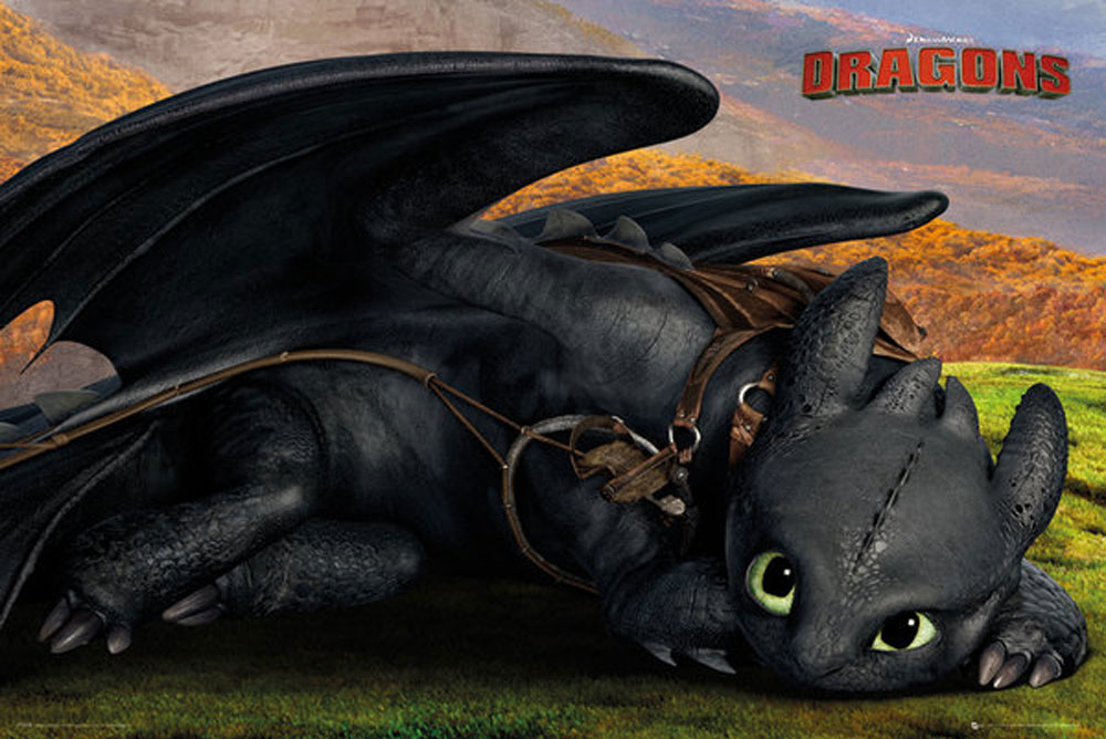 Dragons How To Train Your Dragon 2 Toothless Cute Poster 915x61