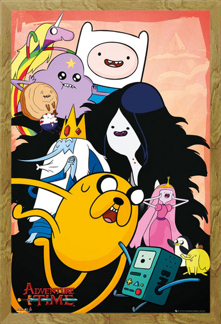 Adventure Time-Collage-Adventure Time with Finn and Jake Poster Print