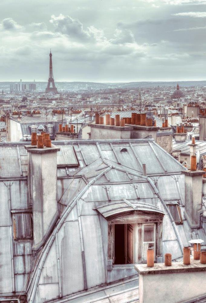 Paris Dacher Foto Tapete 232x158 Foto Tapeten 232x158