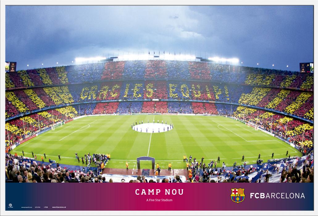 Fc Barcelona Camp Nou Poster 91 5x61