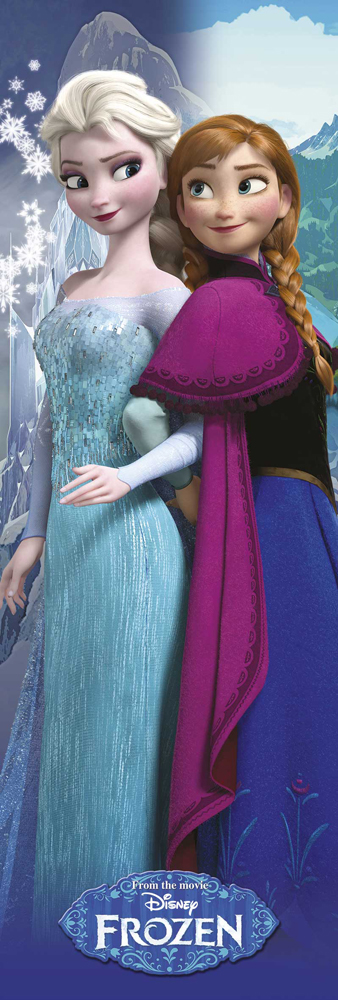 Frozen - Türposter - Disney Anna and Elsa