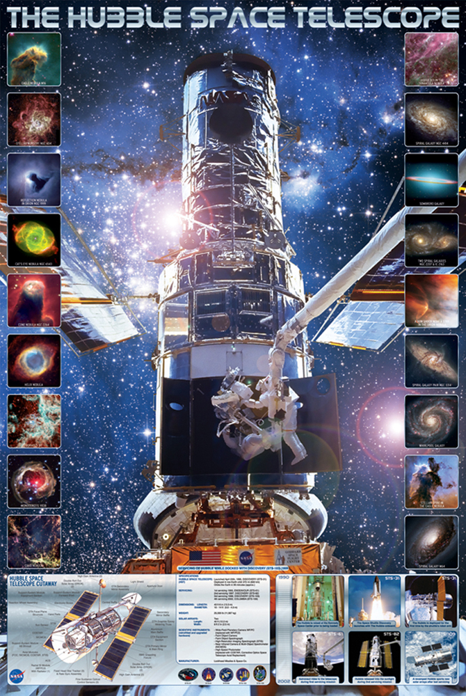 Educational - Bildung - Poster - The Hubble Space Telescope