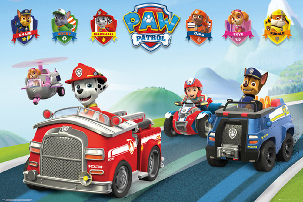 Paw Patrol - Poster - Vehicles