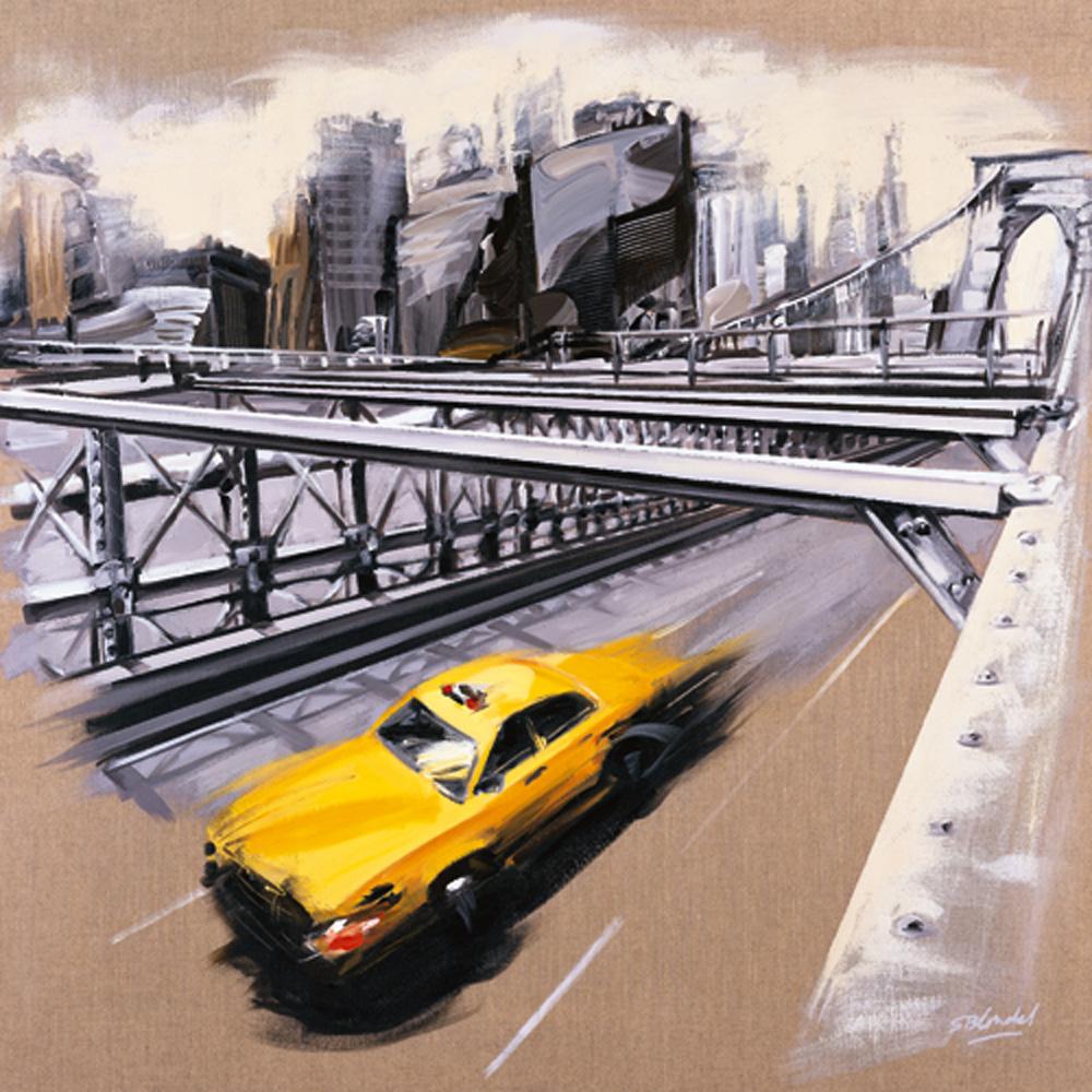 Blondel 70x70 Kunstdruck Sandrine New York Brooklyn Bridge