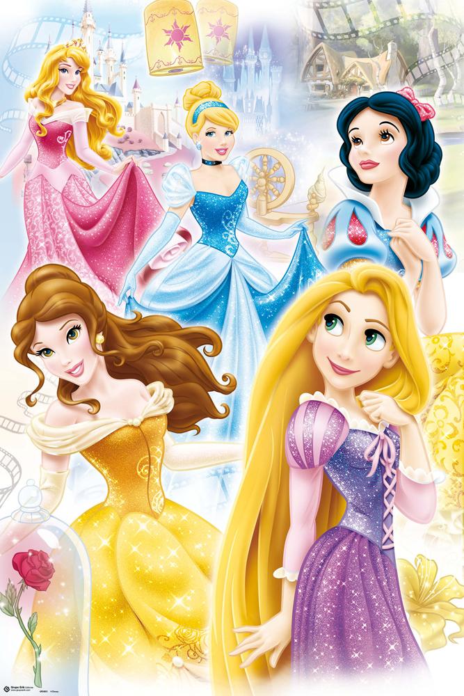 Disney - Prinzessinnen Gruppe - Poster - 61x91,5