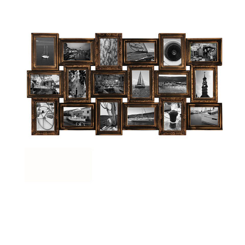 collage bilderrahmen berlin kupfer multishot wechselrahmen 102x52. Black Bedroom Furniture Sets. Home Design Ideas