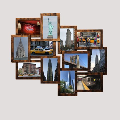 Collage Bilderrahmen - Helsinki kupfer Multishot - Wechselrahmen - 51x59