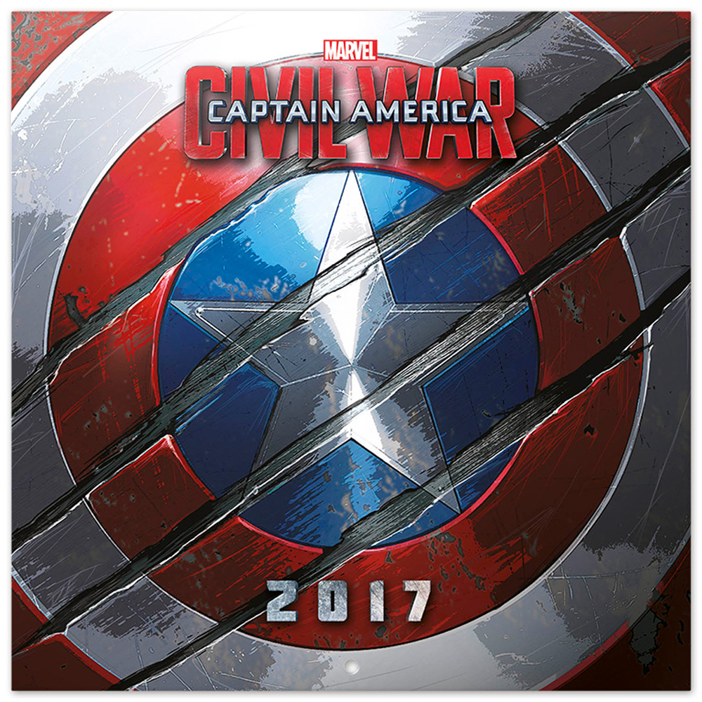 captain america kalender 2017 kalender 30x30. Black Bedroom Furniture Sets. Home Design Ideas